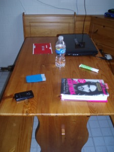 Random stuff on my kitchen table...