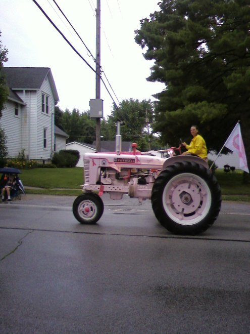 The best for last!! The very famous PINK tractor!