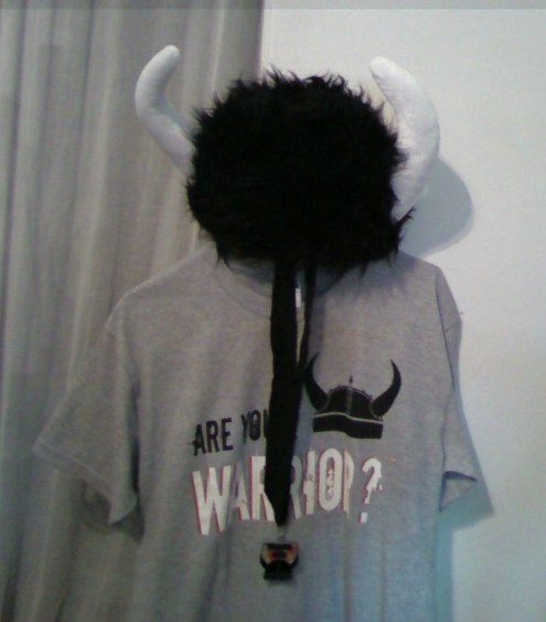Warrior Helmet, T-Shirt, Ribbon