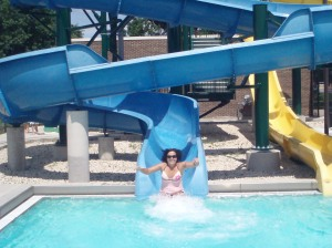 Better water slide shot with extra ACTION!