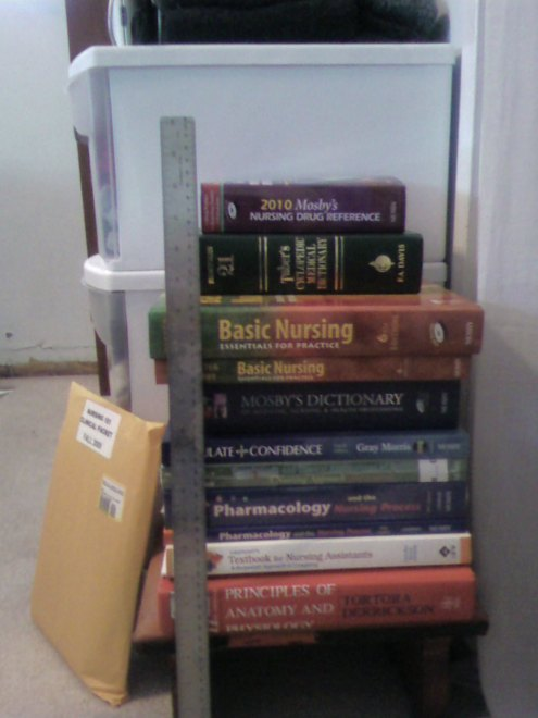 "You can't see it exactly, but it's about 16"" tall. AND I forgot a book! I took its picture all by itself. So that brings the total to 17""."